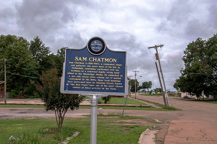 Sam Chatmon marker, Hollandale, Mississippi