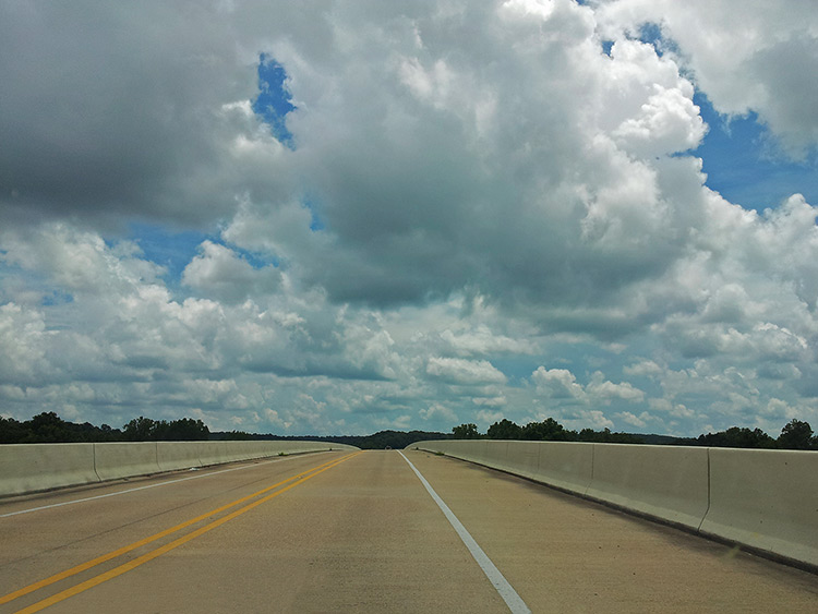 Yazoo River Bridge on Hwy 61, Mississippi