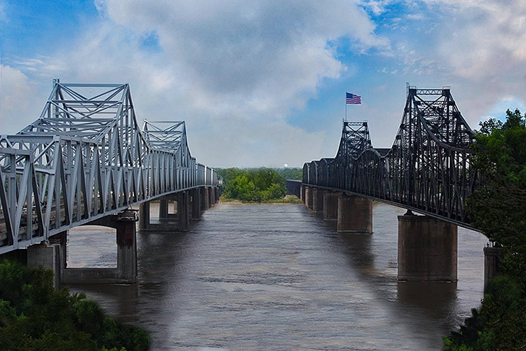 Vicksburg bridges, Mississippi
