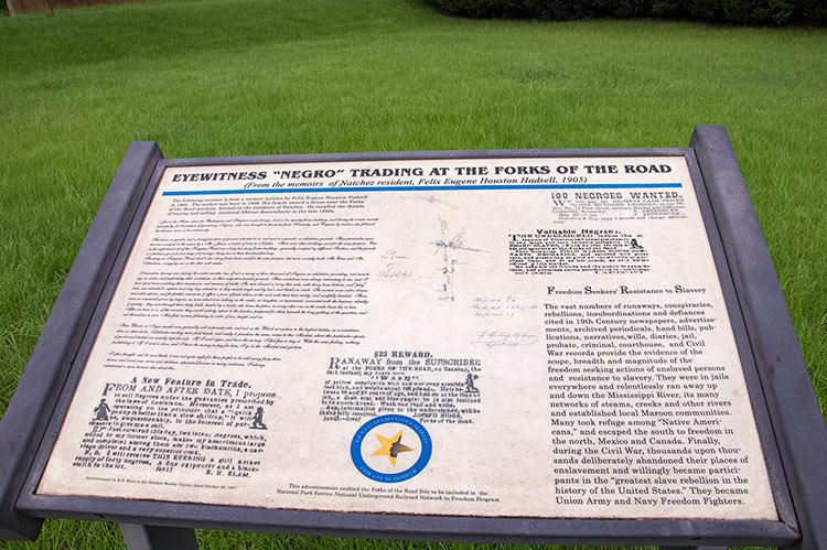 Forks of the Road Historical Site, Natchez, Mississippi
