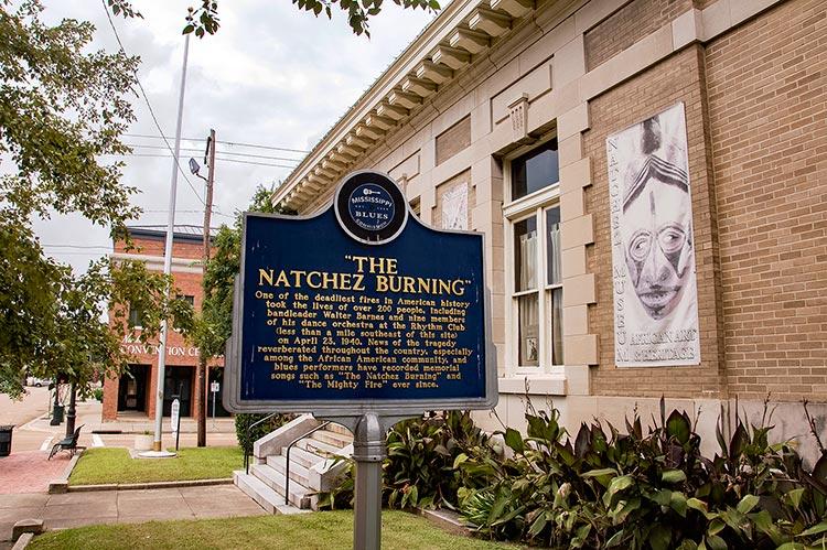 The Natchez Burning marker