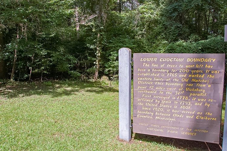 Natchez Trace Parkway, Lower Choctaw Boundary