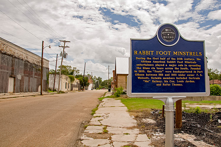 Rabbit Foot Minstrel marker, Port Gibson