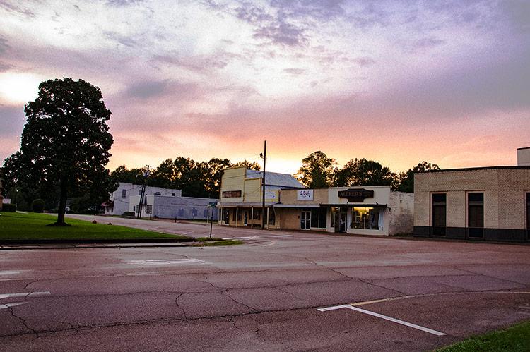 Sunset in Hazlehurst, Mississippi