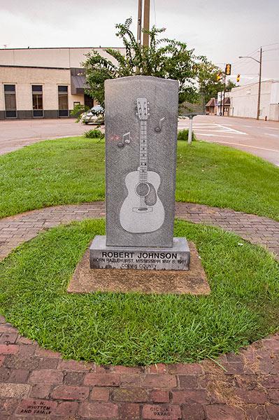 Robert Johnson monument, Hazlehurst, Mississippi