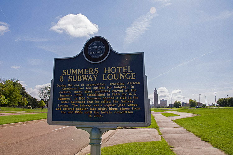 Summers Hotel & Subway Lounge blues marker, Jackson, Mississippi