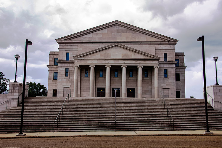 North view of the Supreme Court of Mississippi, Jackson, Ms