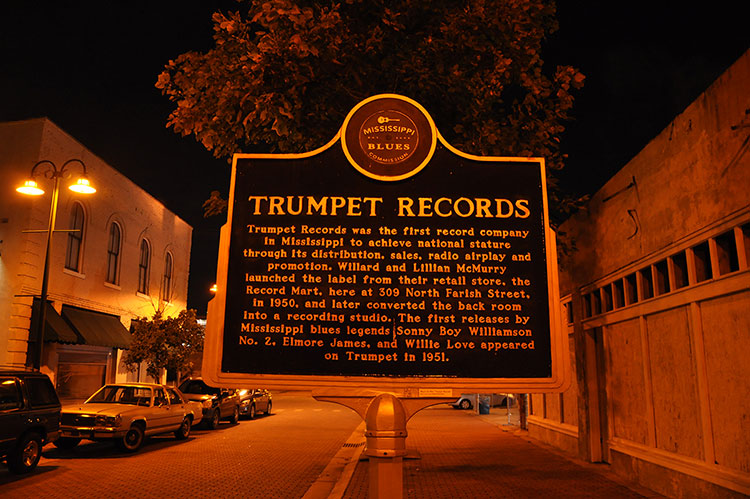 Trumpet Records marker, Farish Street, Jackson, Mississippi