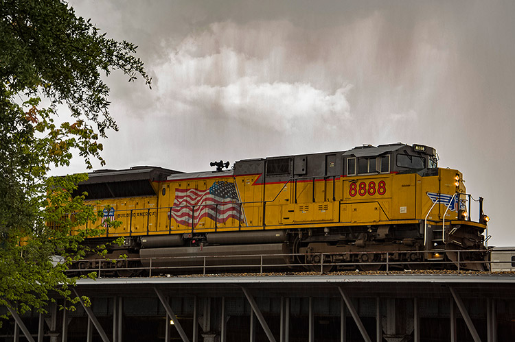 Union Pacific train, South Mississippi