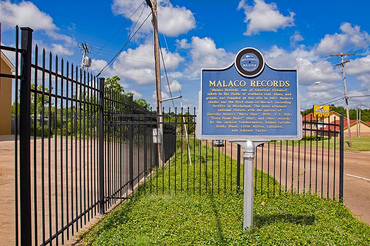 Malaco Records blues marker, Jackson, Mississippi