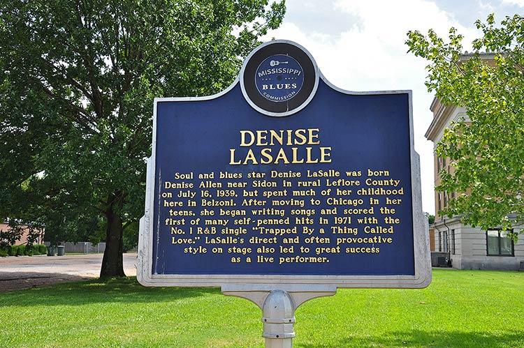 Denise LaSalle marker, Belzoni, Mississippi