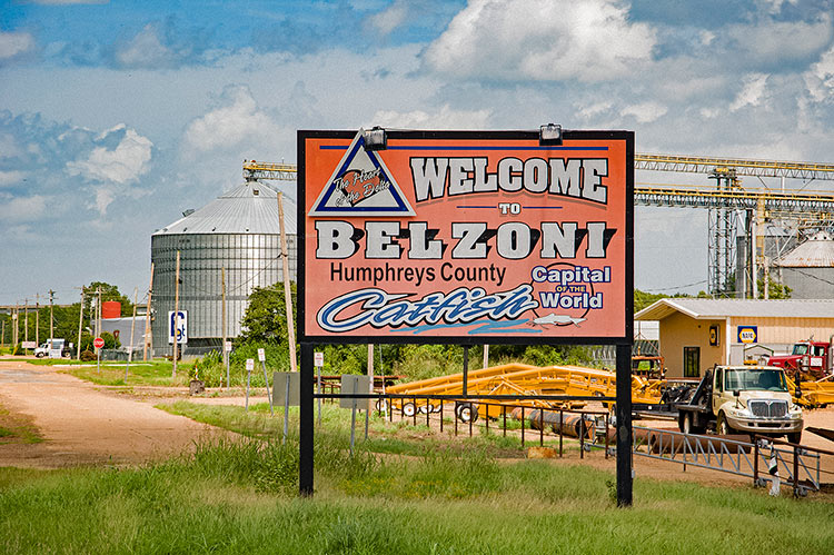 Welcome to Belzoni, catfish capital of the world, Mississippi