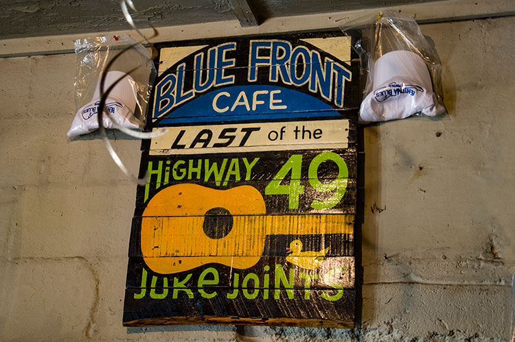 Blue Front Cafe, last of the Highway 49 juke joints, Mississippi