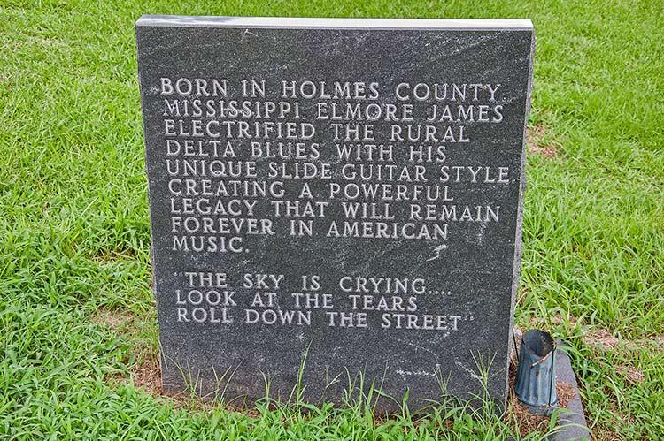 Elmore James grave, Ebenezer, Mississippi