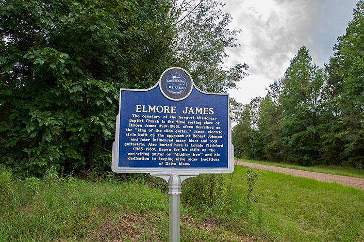 Elmore James marker, Ebenezer, Ms