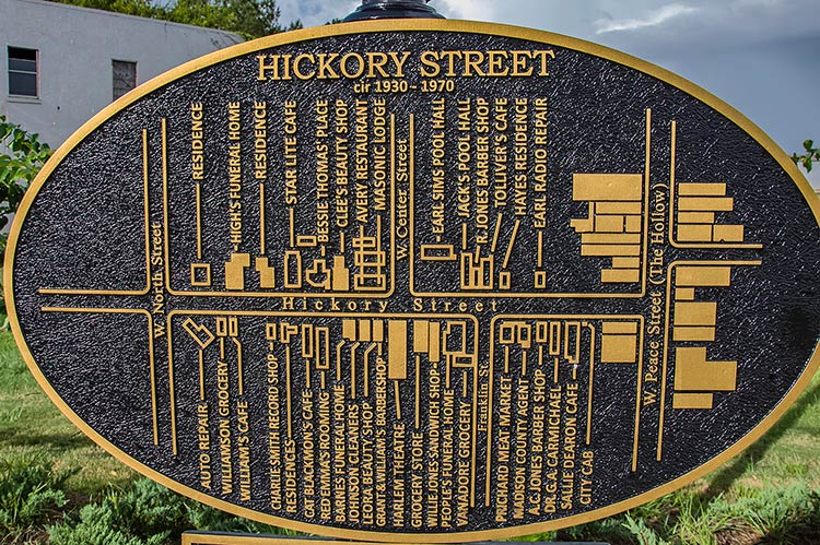Hickory Street Map, Historic District, Canton, Ms