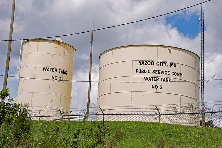 Water tanks, Yazoo City, Mississippi