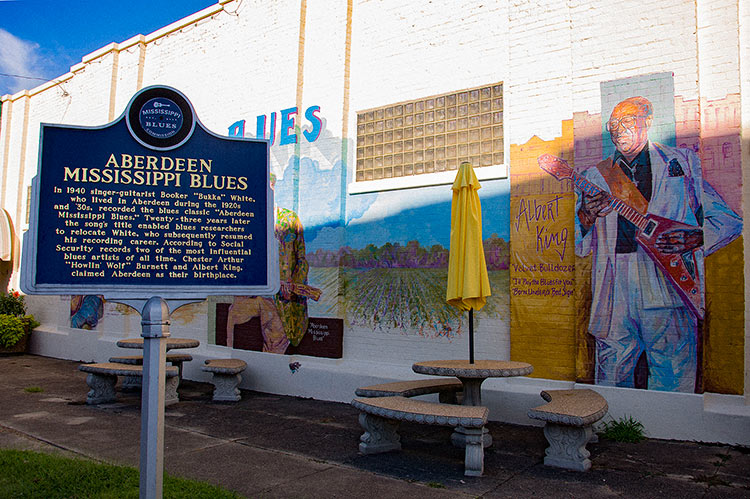 Albert King, Aberdeen Mississippi Blues mural, Ms