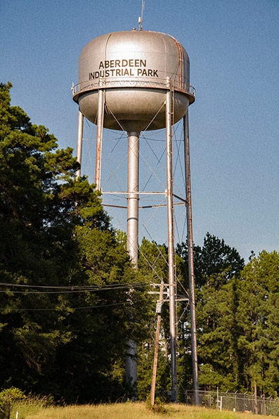 Aberdeen Industrial Park water tower, Ms