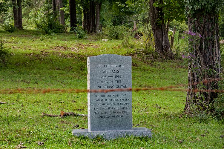 Big Joe Williams' grave, Mississippi