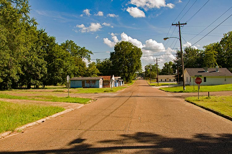 Former Ferdinand Sykes's on the left, Cottrell Street, West Point, Ms