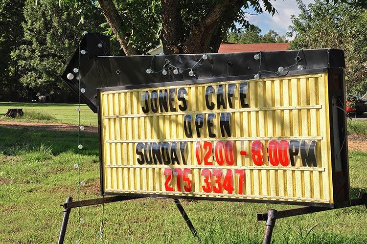 Jones Cafe, Whites (White Station), near West Point, East Mississippi