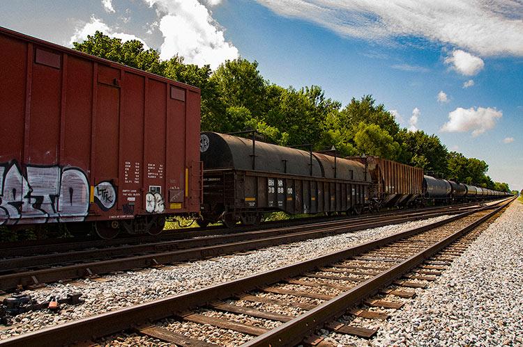 Train in Meridian, Ms