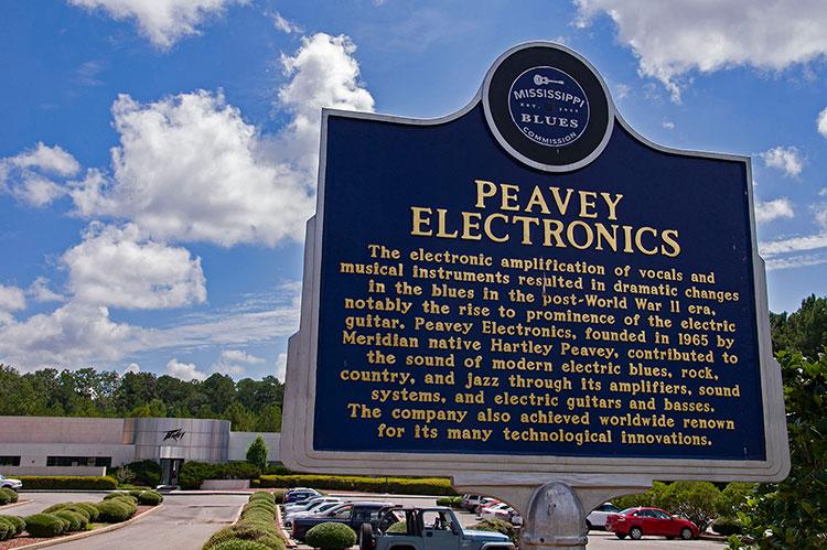 Peavey Electronics marker, Meridian, East Mississippi