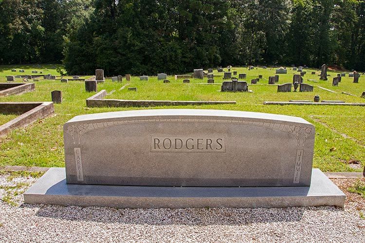 Carrie and Jimmie Rodgers's graves, Meridian, East Mississippi