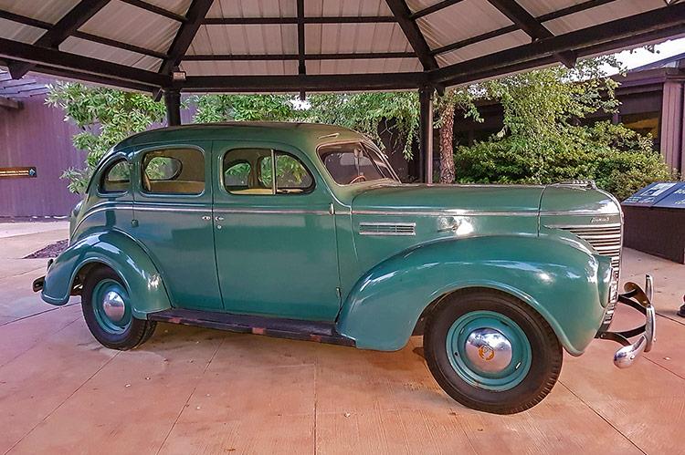 1939 Plymouth Sedan, Elvis Presley's birthplace, Tupelo, Mississippi
