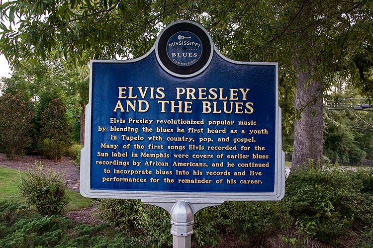 Elvis Presley and the blues, Elvis Presley's birthplace, Tupelo, Ms