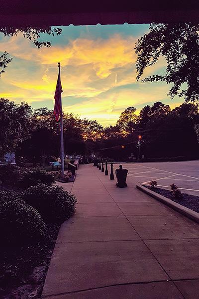 Sunset at Elvis Presley's birthplace, Tupelo, Mississippi