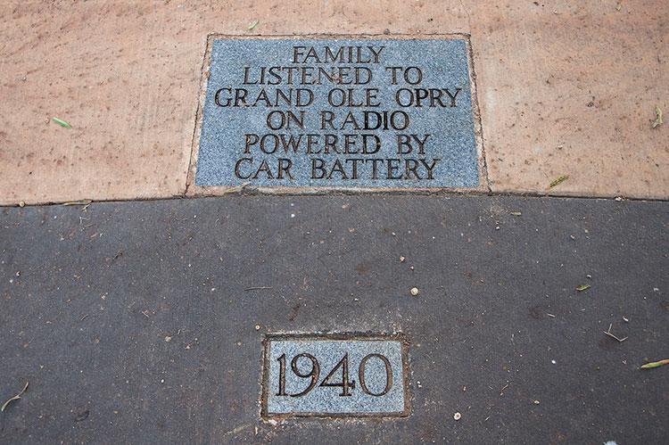 Elvis Walk of Life, Elvis Presley's birthplace, Tupelo, Mississippi