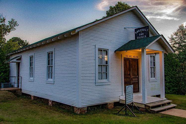 Assembly of God Church, Elvis Presley's birthplace, Tupelo, Mississippi