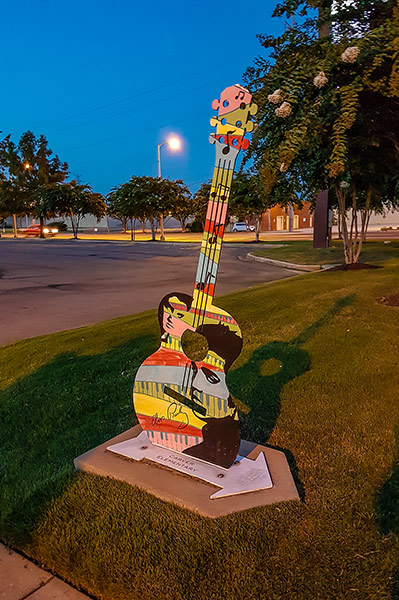 Elvis guitar painted by students, Tupelo, Mississippi