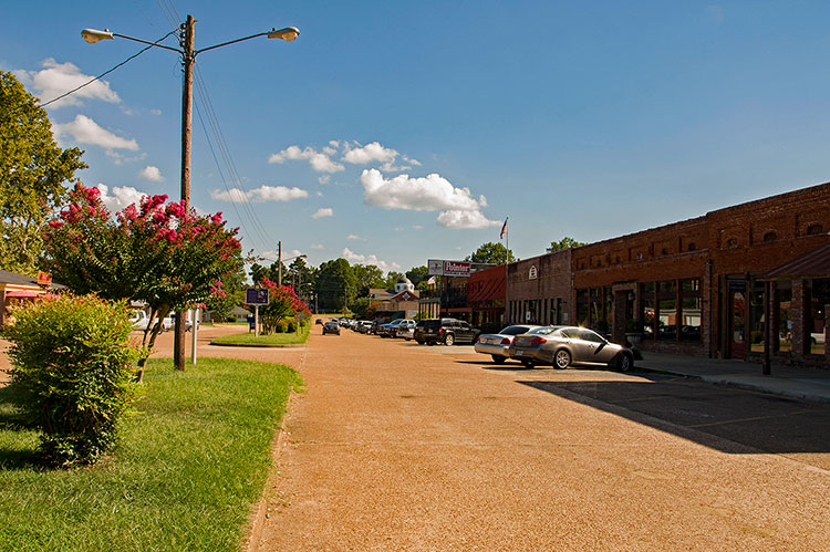 Main Street, Como, Mississippi Hills
