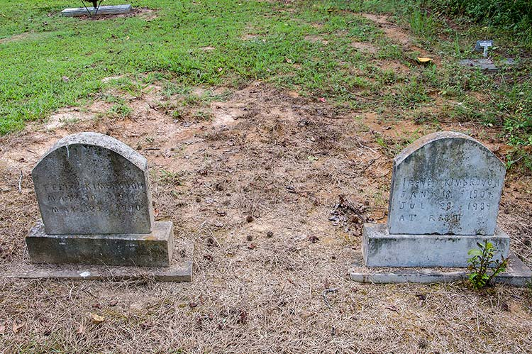 Felix and Irene Kimbrough graves at Kimbrough Chapel Cemetery, Hudsonville, Ms