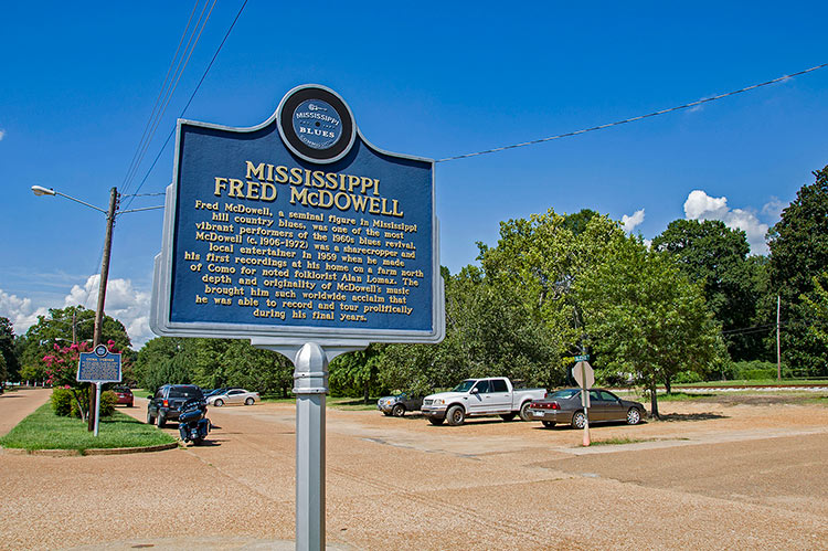 Fred McDowell blues marker, Como, Ms