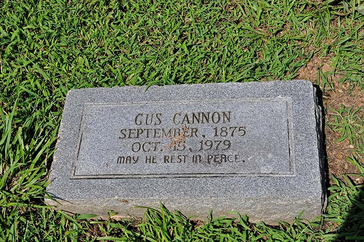 Gus Cannon grave, Greenview Memorial Garden, Nesbit, Mississippi