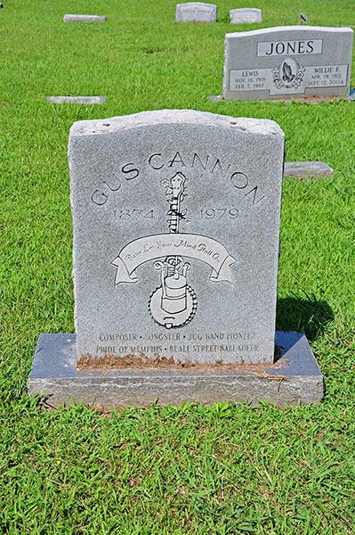 Gus Cannon grave, Greenview Memorial Garden, Nesbit, DeSoto County, Ms