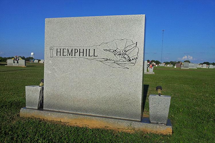 Jessie Mae Hemphill grave, Senatobia, Mississippi