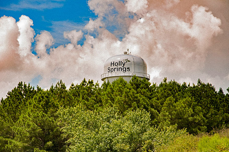 Holly Springs water tower, Mississippi Hills