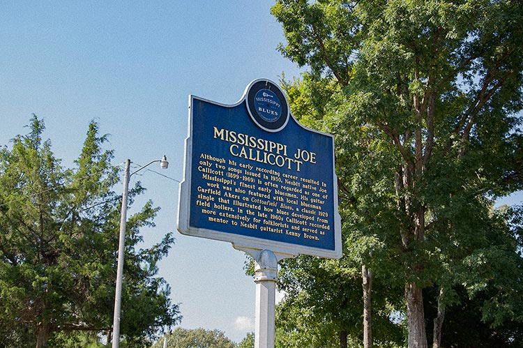 Joe Callicott blues marker, Getwell Road, Nesbit, DeSoto County, Mississippi