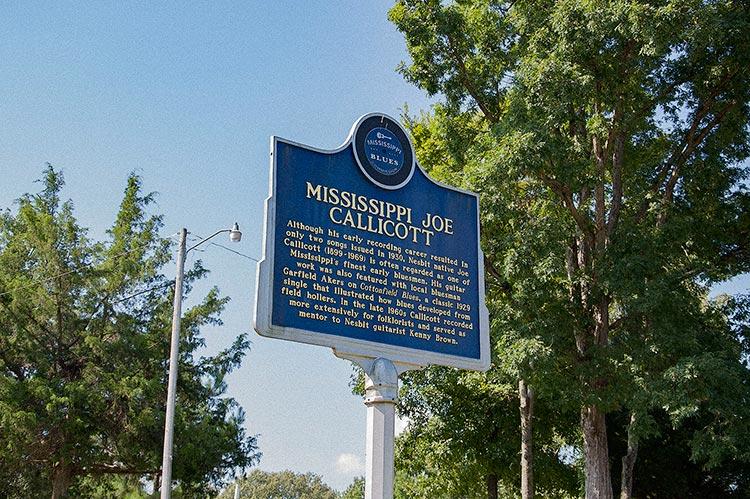 Joe Callicott blues marker, Getwell Road, Nesbit, DeSoto County, Ms