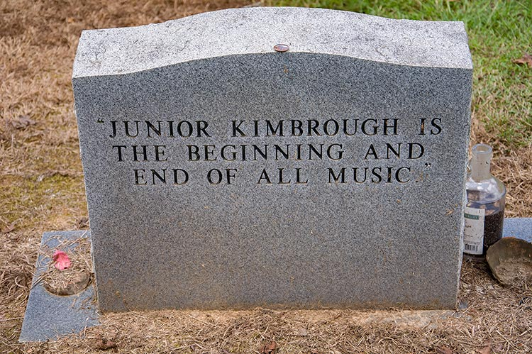 Grave of Junior Kimbrough at Kimbrough Chapel Cemetery, Hudsonville, Ms