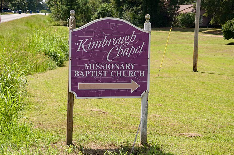 Kimbrough Chapel sign, Hudsonville, North Mississippi