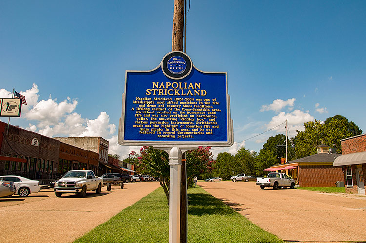 Napolian Strickland blues marker, Como, Ms