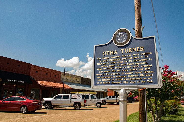 Othar Turner blues marker, Como, Ms
