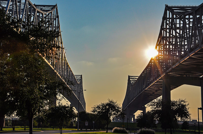 Greater New Orleans Bridge from Algiers, N.O., Louisiana